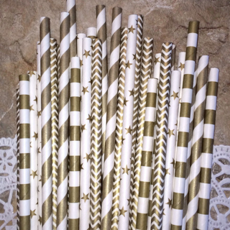 Paper Straws Gold Combo Pack