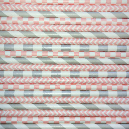 Girl's Best Friend Mix Paper Straws