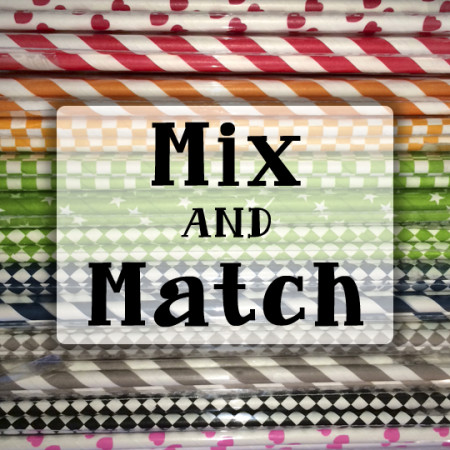 Mix and Match Paper Straw Colors and Patterns