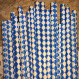 Ocean Blue Diamond Paper Straws - Cake Pop Stand Co.