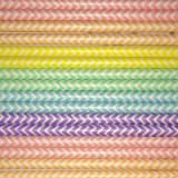 Pastel Chevron Rainbow Paper Straws Mix