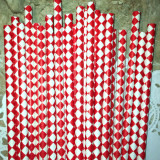 Red Diamond Paper Straws - CakePopStandCo.com