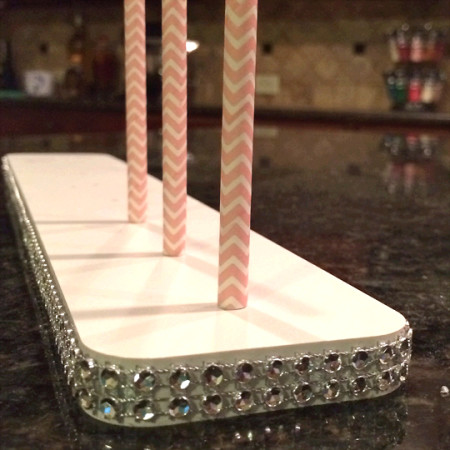 Single Row Bling Cake Pop Stand for 8 Pops - Cake Pop Stand Co