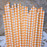 Tangerine Orange Diamond Paper Straws - Cake Pop Stand Co