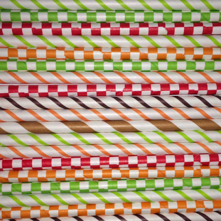 Autumn Paper Straws Mix