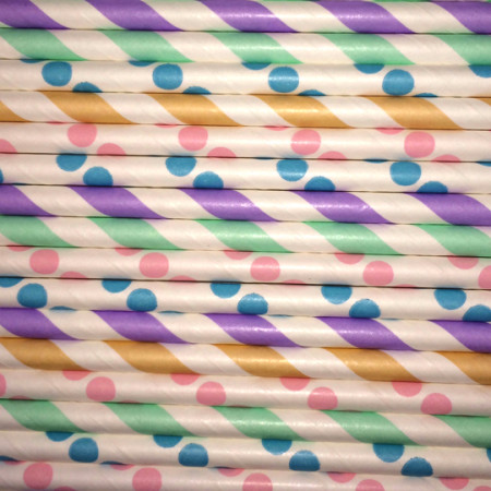 Birthday Cake Paper Straws Mix