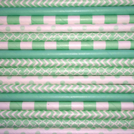 Minty Fresh Paper Straws Mix