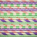 Pretty Pastels Paper Straws Mix