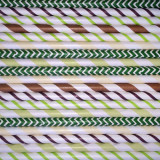Camouflage Paper Straws Mix