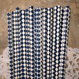 Navy Blue Diamond Paper Straws