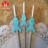 Awareness Ribbon Embellished Bling Sticks