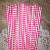 Pink Diamond Paper Straws