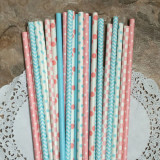 Gender Reveal Paper Straw Mix