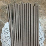 Gray Solid Paper Straws