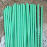 Sea Foam Solid Paper Straws
