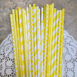 Yellow Paper Straw Mix
