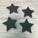 Individual Cake Pop Stands - Black Stars